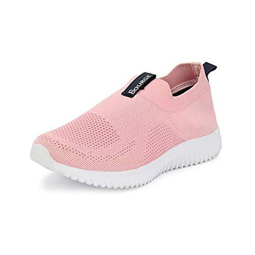 Bourge Women Micam-Z51 L.Pink Running Shoes-6 UK (Micam-102-06)