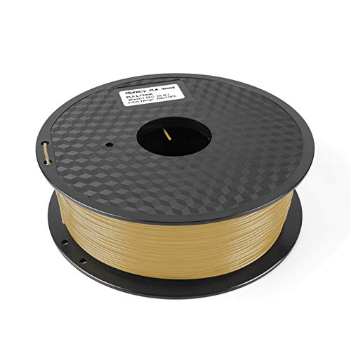 PLA 3D printer filament 1.75mm pla wood 335 meters compound material based on PLA contain wood powder (Color : Wooden)