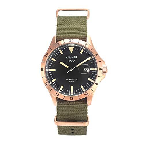 Orologio da polso uomo HAMMER EGO in tela verde H3F16G-04