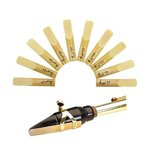 Fansjoy Caja de 10 Cañas Tradicional para Saxofón Alto, Dureza 2,5