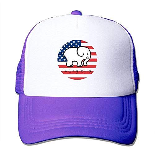 varina Ivory Ella Adjustable Mesh Trucker Hat Stylish Snapback Baseball Cap