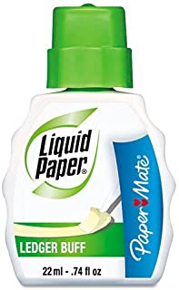 Paper Mate Correction Fluid, 22ml, Ledger Buff (PAP5660115) (12-Pack)