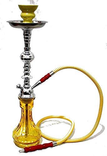 1- Hose Yellow Gini Shisha Yellow Luxury pipe chicha Narguila cachimba - chicha Narguila cachimba sin nicotina sin tabaco wholesale chicha
