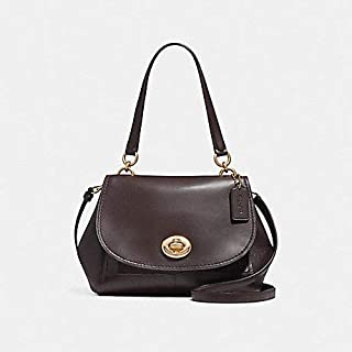 Coach F25934 IML7C Faye Carryall Leather Satchel Bag in Light GOLD/OXBLOOD 1