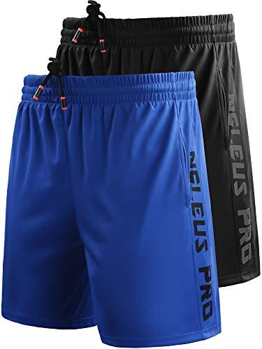 Neleus Men's Lightweight Workout Running Athletic Shorts