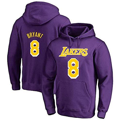 Zxwzzz Baloncesto NBA Lakers con Capucha De Los Hombres Y De Las Mujeres 8# Kobe Bryant Jersey Sudadera con Capucha Suelta Baloncesto Camiseta (Color : Purple, Size : 3X-Large)
