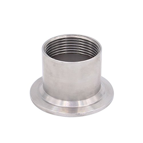 "DERNORD Sanitary Female Threaded Pipe Fitting to 2 Inch TRI CLAMP OD 64mm Ferrule (Pipe Size: 1-1/4"" NPT)"