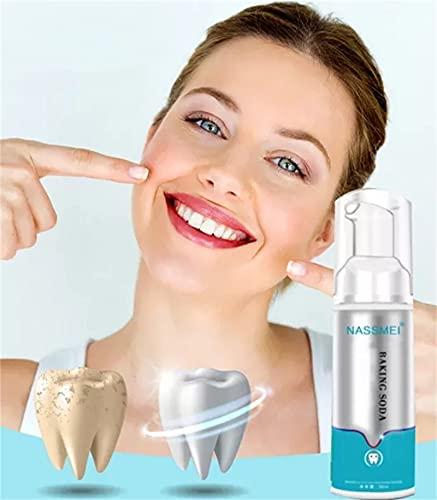 KFEK Brightify Deep Cleaning Schaum Zahnpasta, Ultrafeiner Mousse Tiefenreinigung Zahnpasta Schaum, Whitening Zahnpasta Weisse Zähne, Instant Bleaching Natural Zahnpasta(1 Stück)