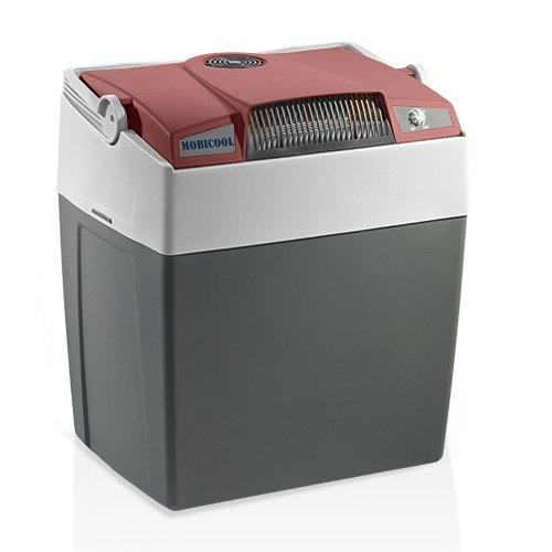 MOBICOOL G30DC Glacière électrique portable rouge/gris, 29L, 12V, 18°C en dessous de la température ambiante, p396xh445xl296mm, port USB