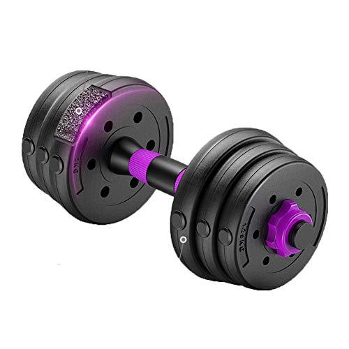 Verstellbare Hantel-Paar, Anti-Rolling Fitness Hanteln, verstellbare Hanteln Gewichte Sets Langhanteln Home Fitness Gym Equipment für Männer Frauen, Ein Paar, 10 kg