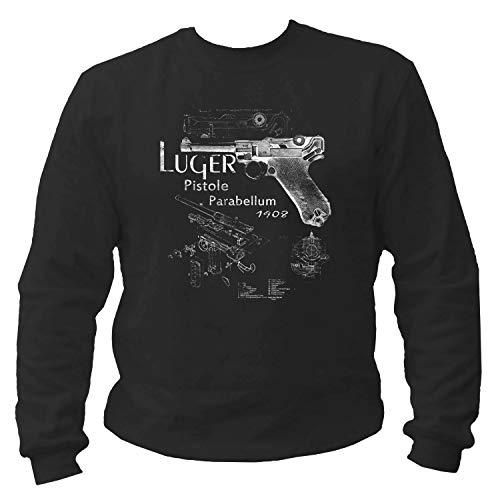 P-T-D Luger Parabellum Pistole schwarz Sweatshirt (M)
