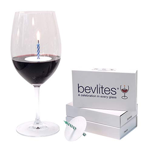 Bevlites Floating Drink Candles | Box of 12 | 3 Different Designs with Birthday Candles | Cheers, B-Day, Hearts | Unique Addition for Bartending Kits | Celebrate Any Occasion Anywhere.