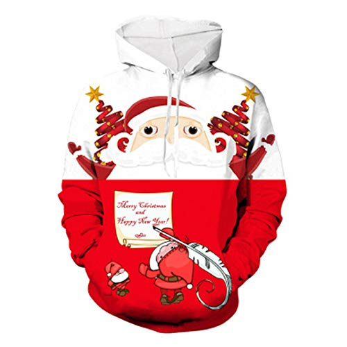 ADKYMen's Christmas Costume Santa Claus Hoodie