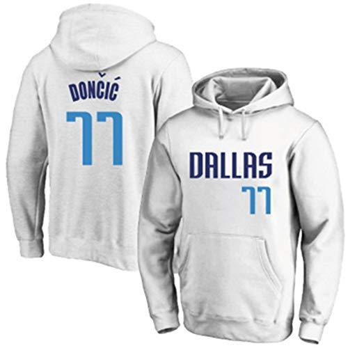 LMSNB Blanco - Para Hombres Dallas Mavericks #77 Luka Baloncesto Americano Retro Sudadera Con Capucha Doncic Sudadera Casual Sudadera Con Capucha Gráfica Con Capucha