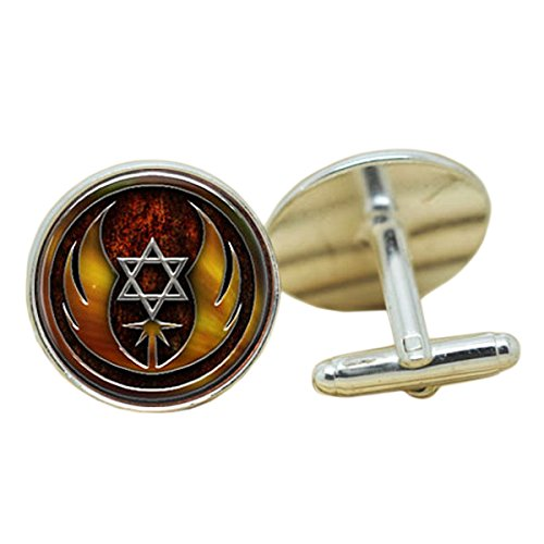 Patch Nation Ordre du Jedi Cosplay Cufflinks Boutons de Manchette (Étoile de David)