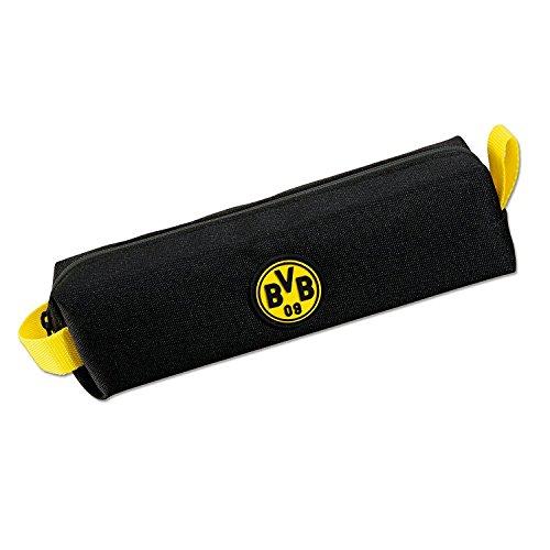 Borussia Dortmund Faulenzermäppchen, Schwarzgelb, Polyester, 20 cm breit und 5 cm hoch, BVB-Emblem one size
