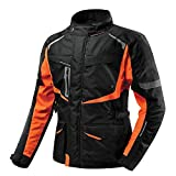 QQA Hombres Moto Textil Impermeable Chaqueta con Armours CE