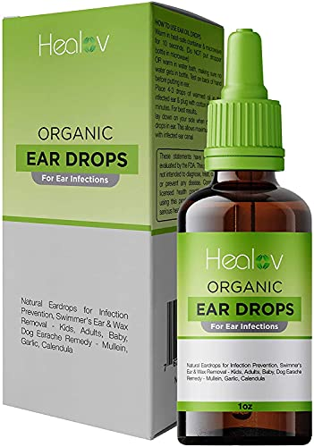 Organic Ear Oil for Ear Infections - Natural Eardrops for...