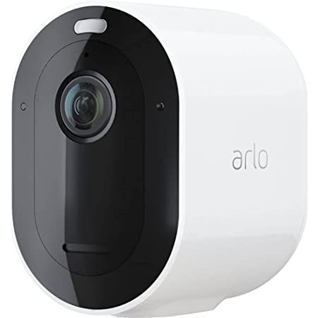 Arlo Pro 4 Spotlight Camera - 1 Pack - Wireless Security, 2K Video & HDR, Color Night Vision, 2 Way Audio, Wire-Free, Direct to WiFi No Hub Needed, White - VMC4050P
