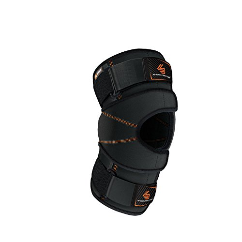 Shock Doctor Knee Brace Wrap, Knee Support for Patella Issues, Injury Recovery, Compression Support for Medial & Lateral Knee Stability, Single, Black, X-Large