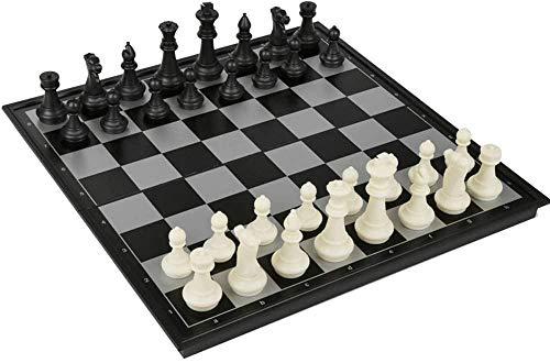 YAYY Computadora de ajedrez - Juego de ajedrez Juego de Mesa de plástico magnético Plegable Juguetes portátiles para niños Upgrade