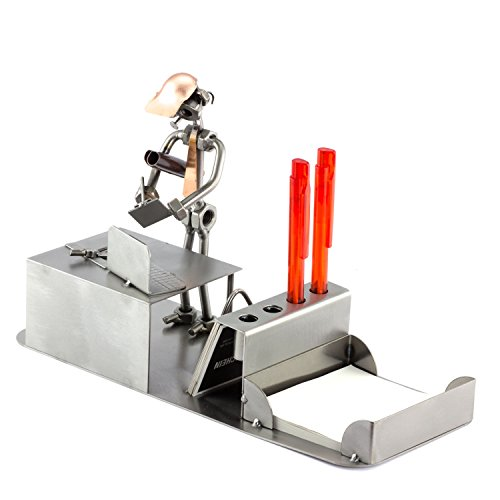 Steelman24 I Schraubenmännchen Ingenieur Büro I Made in Germany I Handarbeit I Geschenkidee I Stahlfigur I Metallfigur I Metallmännchen
