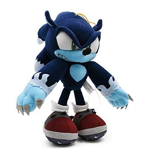 FRWE 30 cm Sonic the Werehog Peluche Bambola Giocattoli Nero Blu Ombra Sonic Peluche Peluche Peluche Peluche Peluche Peluche Peluche Fumetto Bambini 31cmWerehog