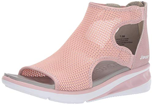Price comparison product image JSport by Jambu Women's Nadine Knit Sport Sandal,  Blush,  8 M US