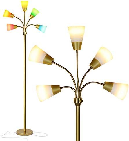 Brightech Medusa Modern LED Floor Lamp Contemporary Multi Head Standing Reading Lamp for Living product image