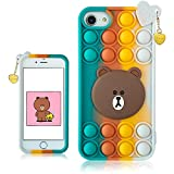 STSNano Bubble Bear Case Cover Silicone Fidget for iPhone