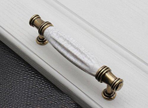 2 Set Poignée De Porte De L'armoire Verte Armoire En Céramique Poignée En Bronze Hardware White Furniture,B