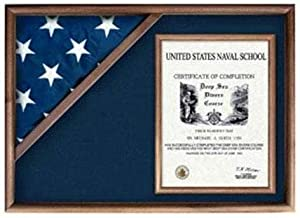 product image for flag connections Flag Display Case Flag and Certificate Flag Box