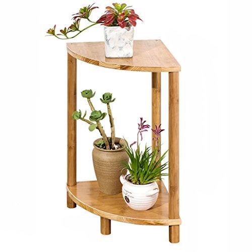 WSSF- Combinaison en forme d'éventail Balcon Fleurs Rack Bambou Intérieur En Bois Massif Multicouche Fleur Stand Salon Sol Pot De Fleur Présentoir Simple (Couleur : B)