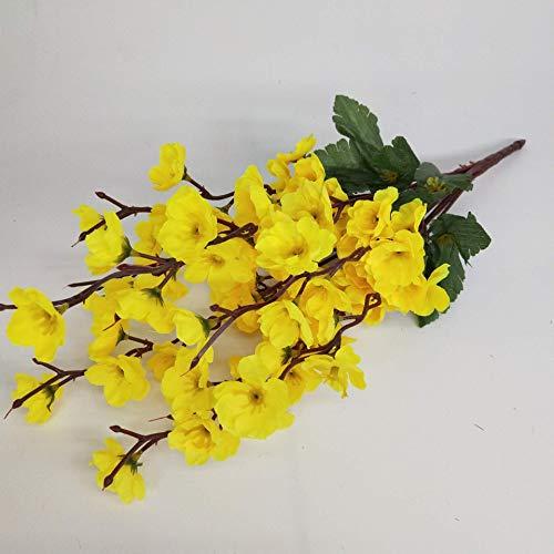 ZhenHe Künstliche Blumen Home Decor Künstliche Blumen-Pfirsich-Blumen-Pflaume-Blumen-Simulation Bouquet Dekorative Blume (6Pcs) Dekorationen
