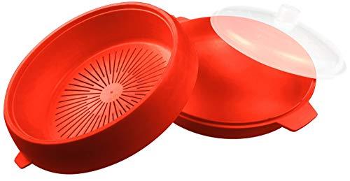 good2heat Micro-Ondes cuiseur Vapeur/Casserole – Rouge