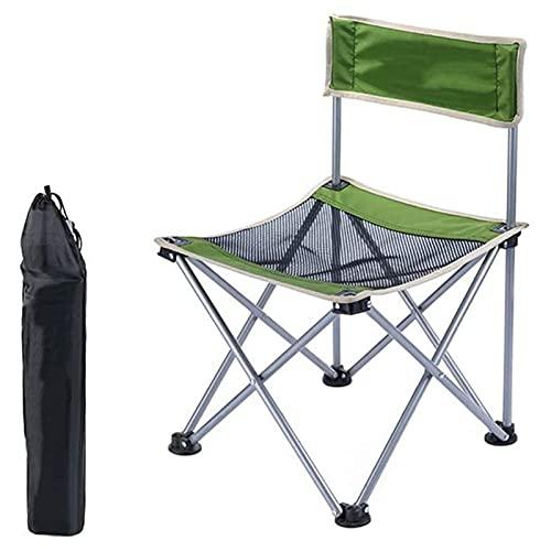 Tolalo Ultraligero el asiento portable compacto plegable con mochila silla de camping, con bolsa de almacenamiento, duradero resistente al desgarro Resistencia, for la excursión del partido acampada d
