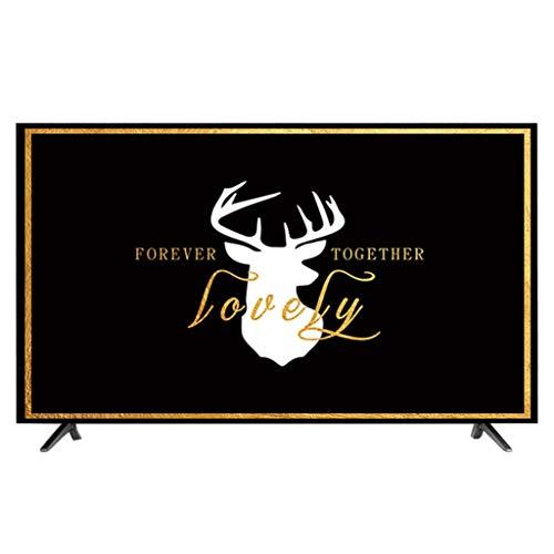 HBLZG Cubierta del televisor Anti estático Poliéster Caja del Panel LCD/LED/HD Pantalla Funda Protectora de Pantalla Compatible con PC, computadora de Escritorio y TV (Color : A, Size : 47-50 Inches)