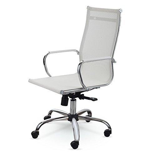 Winport Furniture 7711 Mesh Chair, White