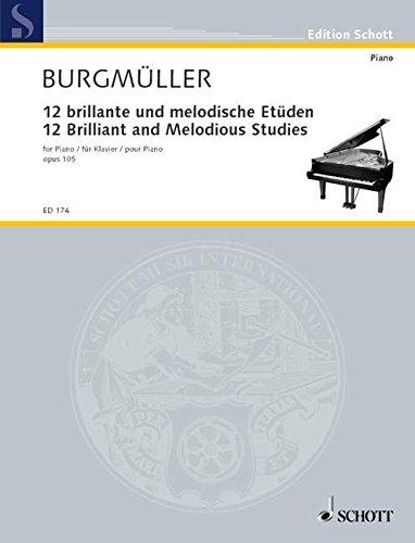 12 brillante und melodische Etüden: op. 105. Klavier. (Edition Schott)