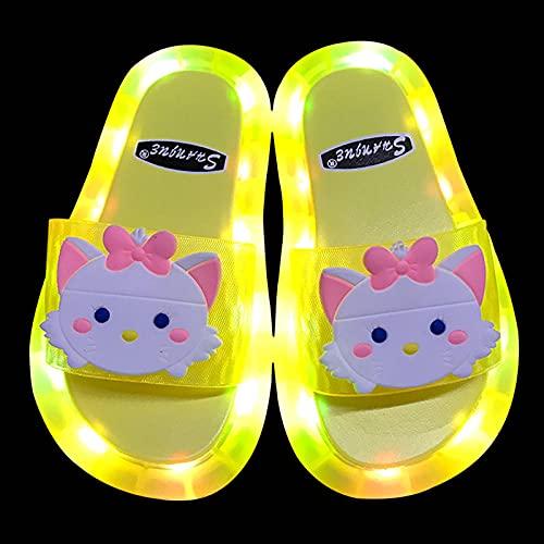zapatillas deportivas de mujer blancas,Zapatillas para niños luminosos, zapatos de luz LED, PVC SOFT-SOFT-SOFTS BEBYLYS NIÑOS ANTILLO SQUEBLO COMERCIO, LINEAJE Dibujos animados Rabbit Duck Smiley Sli