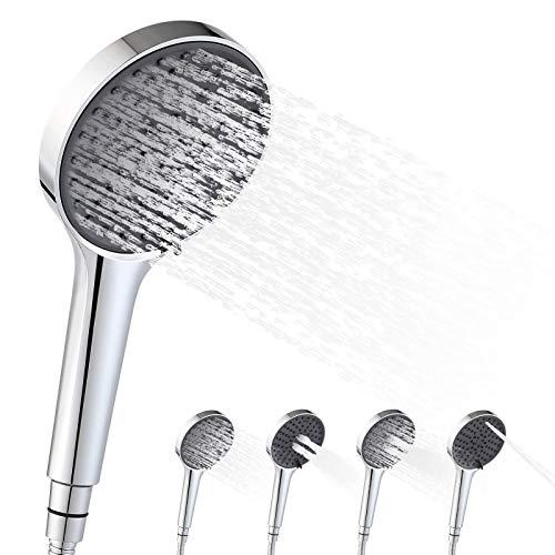 BONADE Duschkopf Handbrause 4 Strahlarten Duschbrause Wassersparend Universal Brausekopf Hochdruck Sparduschkopf für Dusche Duschköpfe mit Druckerhöhung