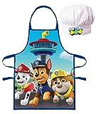 Paw Patrol - Set da cucina per bambini con grembiule e cappello da cuoco