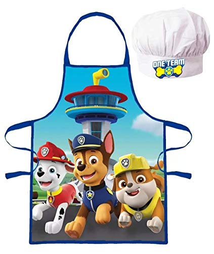 Paw Patrol Kinder Koch-Set Kochschürze und Kochmütze