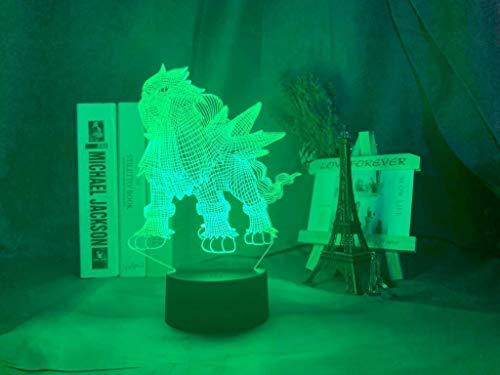 Juego de luces 3D Ir al diagrama de Entei Luz de noche para niños Decoración del dormitorio Muchos colores Ilusión 3D Luz de noche joven Led Entei