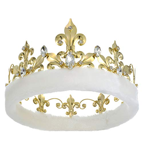 JEHEHUBO Adults Men Crown Birthday King Crowns Gold Crown Cosplay Costume Prom King Crowns Pageant...