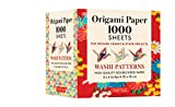 """Origami Paper Japanese Washi 1,000 sheets 4"""" (10 cm): Tuttle Origami Paper: High-Quality Double-Sided Origami Sheets Printed with 12 Different Designs (Instructions for Origami Crane Included)"""