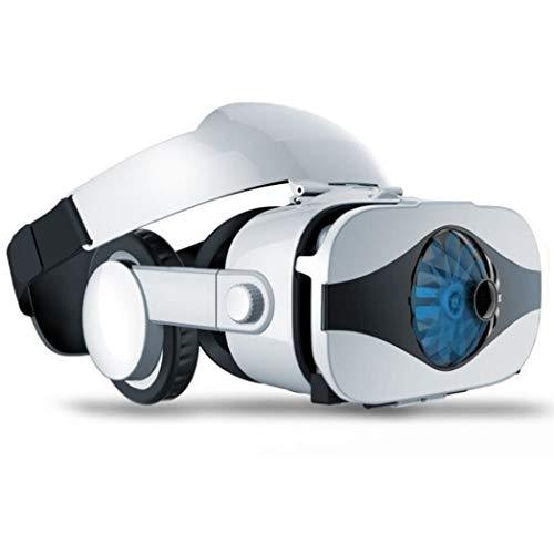 LIUZH Auriculares de realidad virtual todo en uno, VR para iPhone 12/11/X/8/7/6 para Samsung S9/Note10/9 teléfonos Android 4.7-6.8 pulgadas, H043ZJ