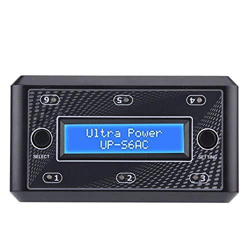 AMONIDA Accesorio Modelo de Control Remoto, 376g Cargador de batería Inteligente de aleación de Aluminio Negro, 12 * 6,8 * 4 cm para batería LiPo LiHV(European regulations)