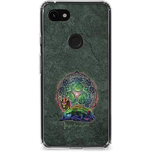 Skinit Clear Phone Case Compatible with Google Pixel 3a XL - Originally Designed Celtic Dragon Design