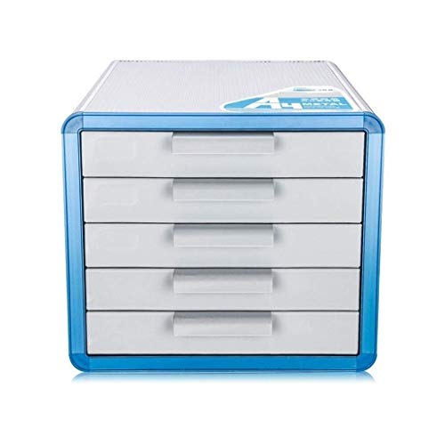 KANJJ-YU Aleación de Aluminio cajones de Almacenamiento, Escritorio Unidad de Almacenamiento Organizador de cajón con Cerradura Clasificador A4 Oficina for Box (Tamaño: 28.6 * 34.6 * 25.3cm) Oficina